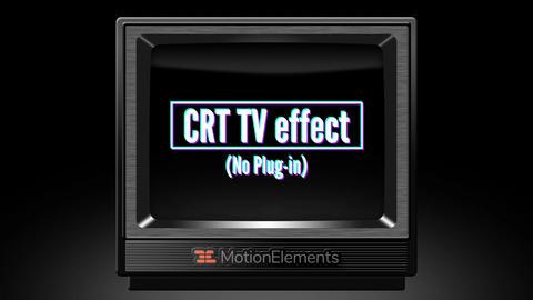 CRT TV effect(No Plug-in)