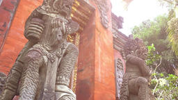 Barong Lion Guard, Balinese mythological character. Indonesia Footage