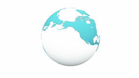 4k rotate blue global,earth map,environmental protection Footage