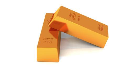 4k Gold bullion gold bars treasury wealth Ingot luxury finance goods trading Footage