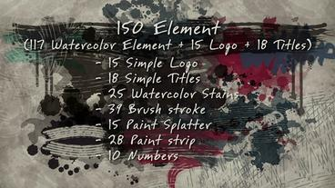Watercolor pack After Effects Template