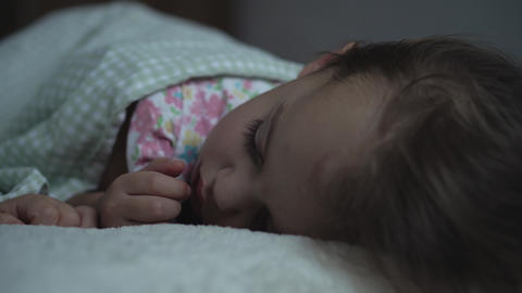 Relaxation, Sweet Dreams, Childhood, Family Concepts - Tight close up Little 3 Live Action