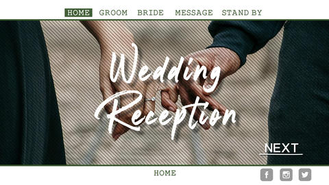 結婚式オープニングムービー【WEB風】 After Effectsテンプレート