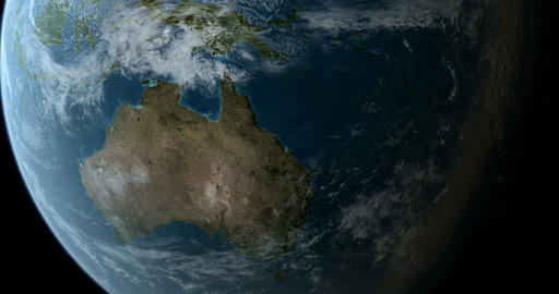 Orbiting over Australia and New Zealand 4K Animation