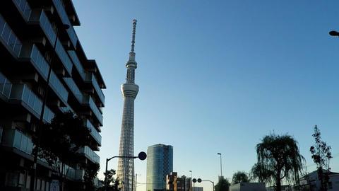 Road heading from Tokyo's main road to Asakusa Footage