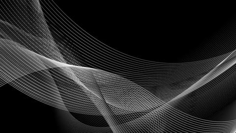 Abstract black and white contrast wavy lines video animation Animation