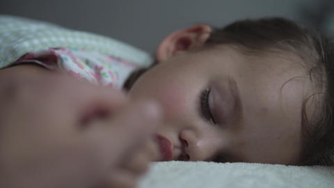 Relaxation, Sweet Dreams, Childhood, Family Concepts - Tight close up preschool Live Action