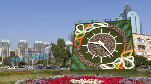 Almaty Flowers Clock Animation