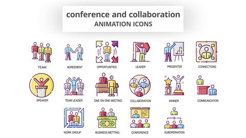 Conference & Collaboration - Animation Icons After Effects Template