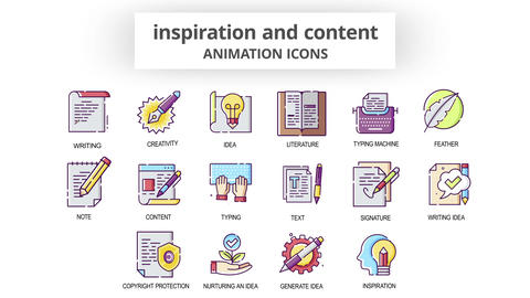 Inspiration & Content - Animation Icons After Effects Template