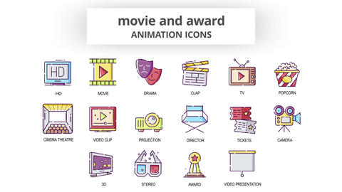 Movie & Award - Animation Icons After Effects Template