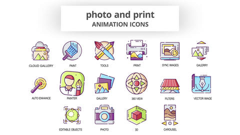 Photo & Print - Animation Icons After Effects Template