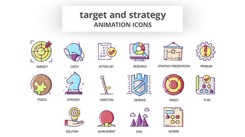 Target & Strategy - Animation Icons After Effects Template