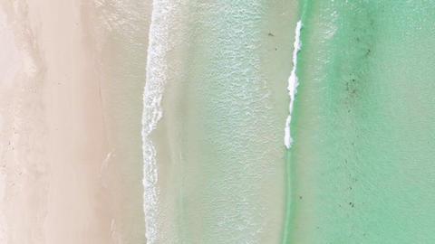Top down Aerial of Vivonne Bay Beach, Kangaroo Island. South Australia Tourism Live Action