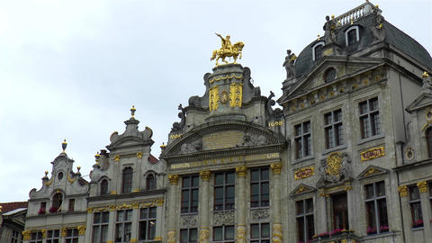 Architectural details at the Grand Place of Brussels Live Action