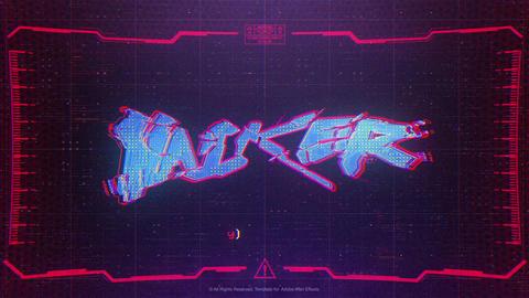 Cyberpunk Logo After Effects Template