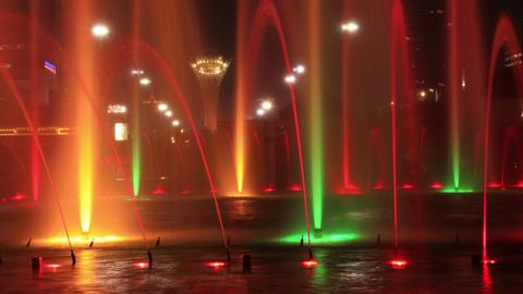 Fountains Bayterek 4K Time Lapse Zoom Animation