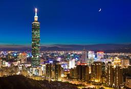 Taipei 101,Xiangshan Mountain,Taipei Foto
