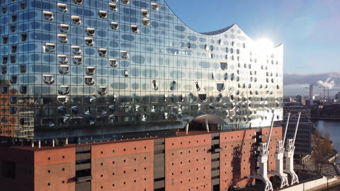 Famous Elbphilharmonie Concert Hall in Hamburg - HAMBURG, GERMANY - DECEMBER 25 Live Action