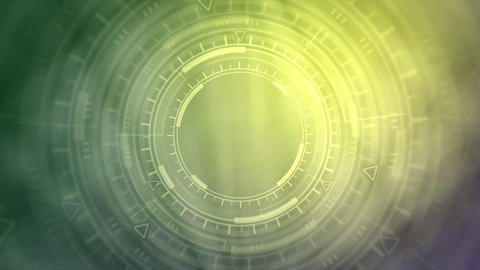 hi-tech abstract background of moving HUD circles, technology concept Animation