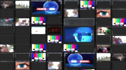 TV wall Looped Video used news studio background Loop 4 Animation