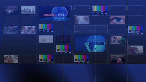 TV wall Looped Video used news studio background Loop 5 Animation