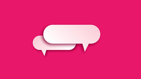 paper speech style speech pink flat sketch speech paper bubbles style bubbles pink bubbles paper Animation