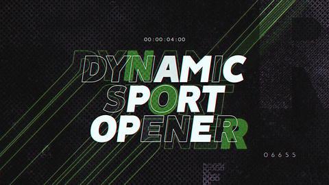Dynamic Sport Opener Apple Motion Template