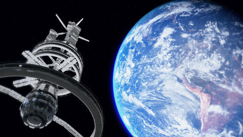 Blue earth planet space station planet earth international NASA space international station earth Animation
