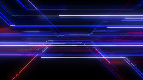 Digital Circuit Network Technology internet data space Background a Blue Red1 Animation