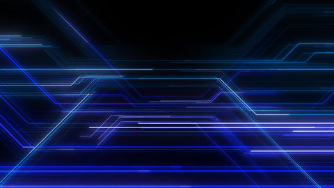 Digital Circuit Network Technology internet data space Background a Blue2 Animation