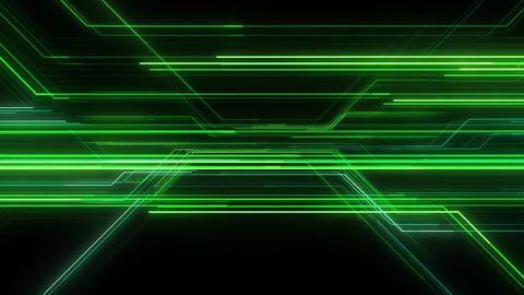 Digital Circuit Network Technology internet data space Background a Green1 Animation