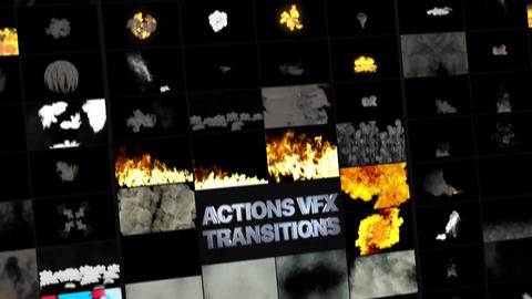 Smoke And Fire Transitions After Effects Template
