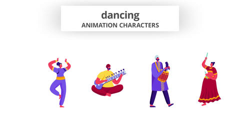 Dancing - Character Set After Effects Template