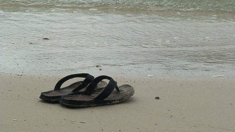 FlipFlop at the beach Stock Video Footage