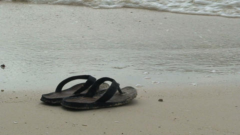 FlipFlop at the beach Footage