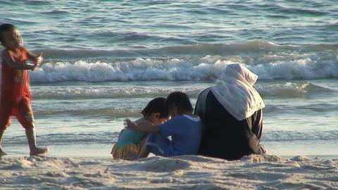 Malaysian family Stock Video Footage