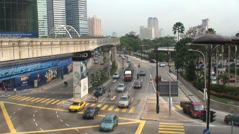 Street downtown Kuala Lumpur Stock Video Footage