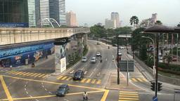 Street downtown Kuala Lumpur Footage