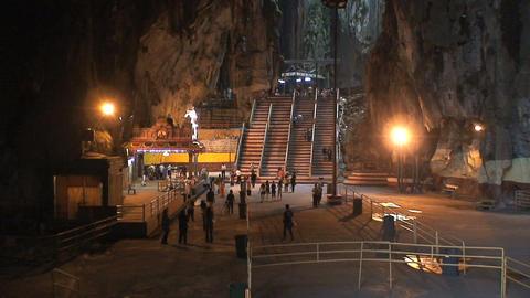 Inside the Batu Caves Stock Video Footage