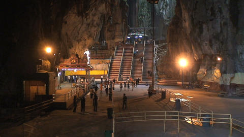 Inside the Batu Caves Footage