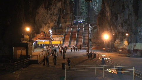 Inside the Batu Caves Stock Video Footage