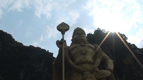 Murugan statue Stock Video Footage