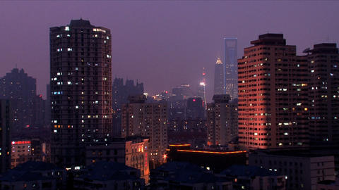 Shanghai downtown Stock Video Footage
