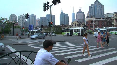 Street scene Shanghai Footage