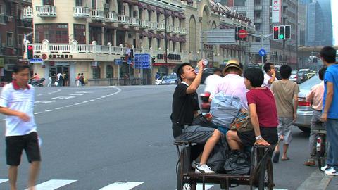 Street scene Shanghai Stock Video Footage