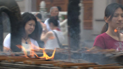 Jing'an Temple incense Footage