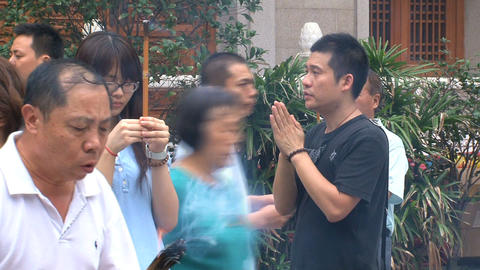 Praying Jing'an Temple Stock Video Footage