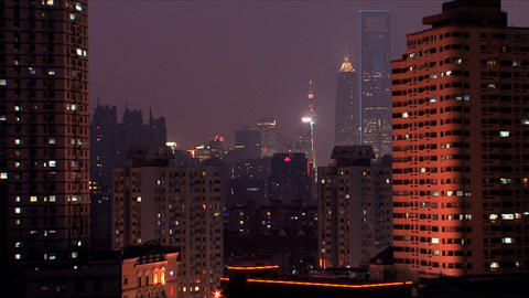 Downtown Shanghai Stock Video Footage