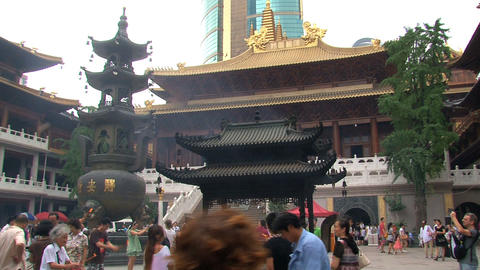 Jing'an Temple Stock Video Footage